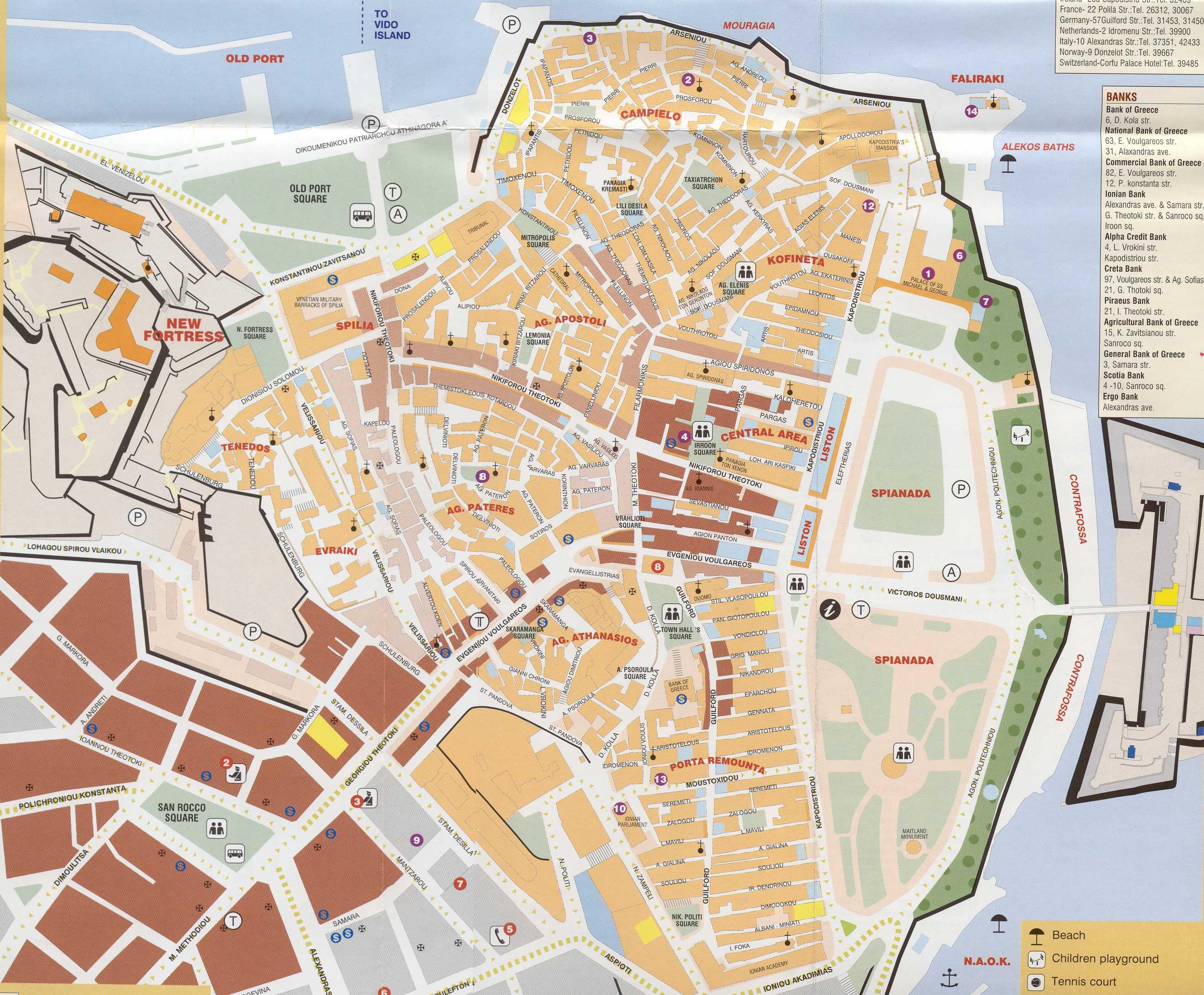 Map of corfu town